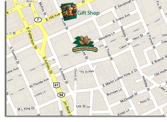 Contact South Georgia Pecan Company Valdosta GA - Georgia map valdosta